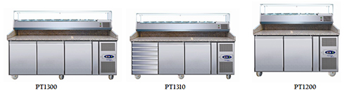 TEFCOLD PT RANGE GASTRONORM PREPERATION COUNTERS